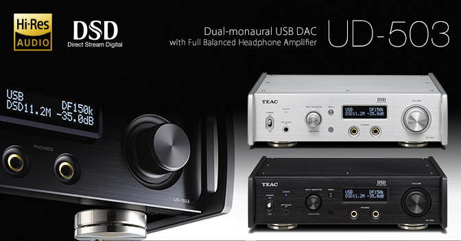 UD-503 - UD-503 Dual Monaural USB-DAC/ Headphone Amplifier