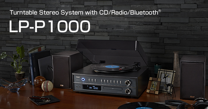 LP-P1000 - Turntable Stereo System with CD, Radio & Bluetooth;